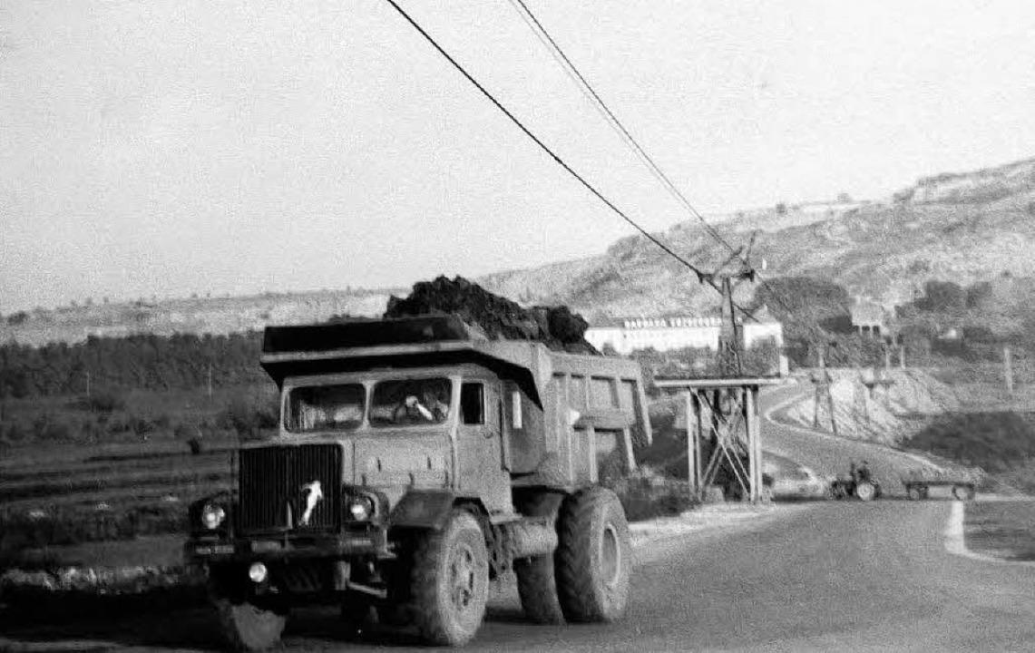 Auf dem historischen Foto ist einer  d...ur Bahn und die  Seilbahn  zu sehen.    | Foto: Archiv: deponie