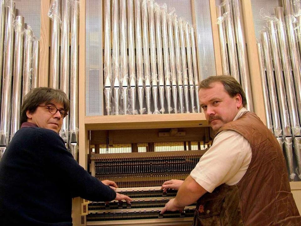 Orgelbaumeister Heinz Jäger mmer spiel... auf der Klaviatur der Globalisierung.    Foto: Hans Christof Wagner