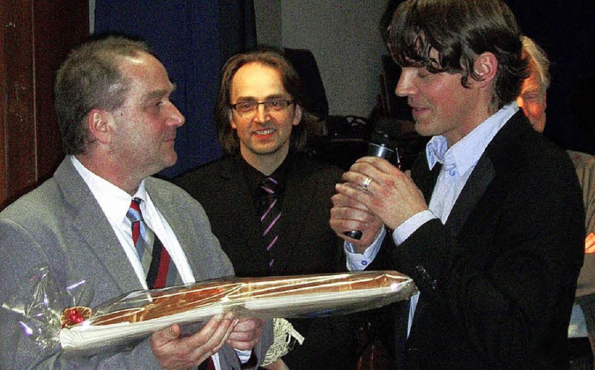 Mit viel Lob aus der Kastelbergschule ...det: Rektor Thomas Kanstinger (links)   | Foto: Wolfgang Meyer