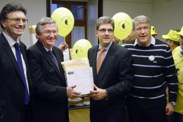 Bürgermeister übergibt Einwendungen gegen Rheintalbahn