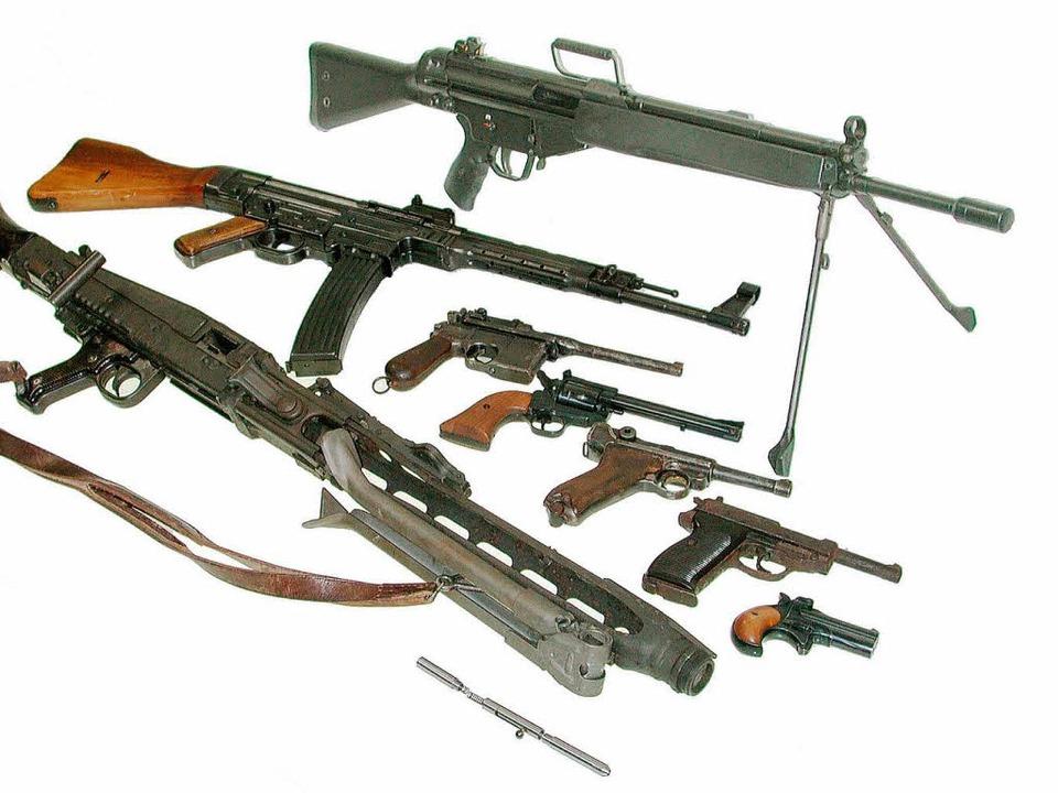 Die Waffen wurden völlig sorglos gelagert.    Foto: Polizei