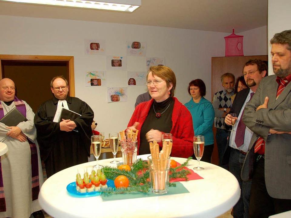 Vertreter von Kirche, Stadt und Carita...schaft für die Einrichtung übernommen.    Foto: Juliane kühnemund