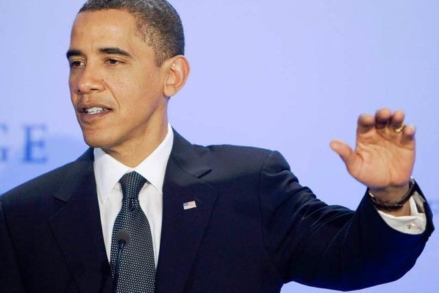 Obama bekennt sich bei Nobelpreisverleihung zum Krieg