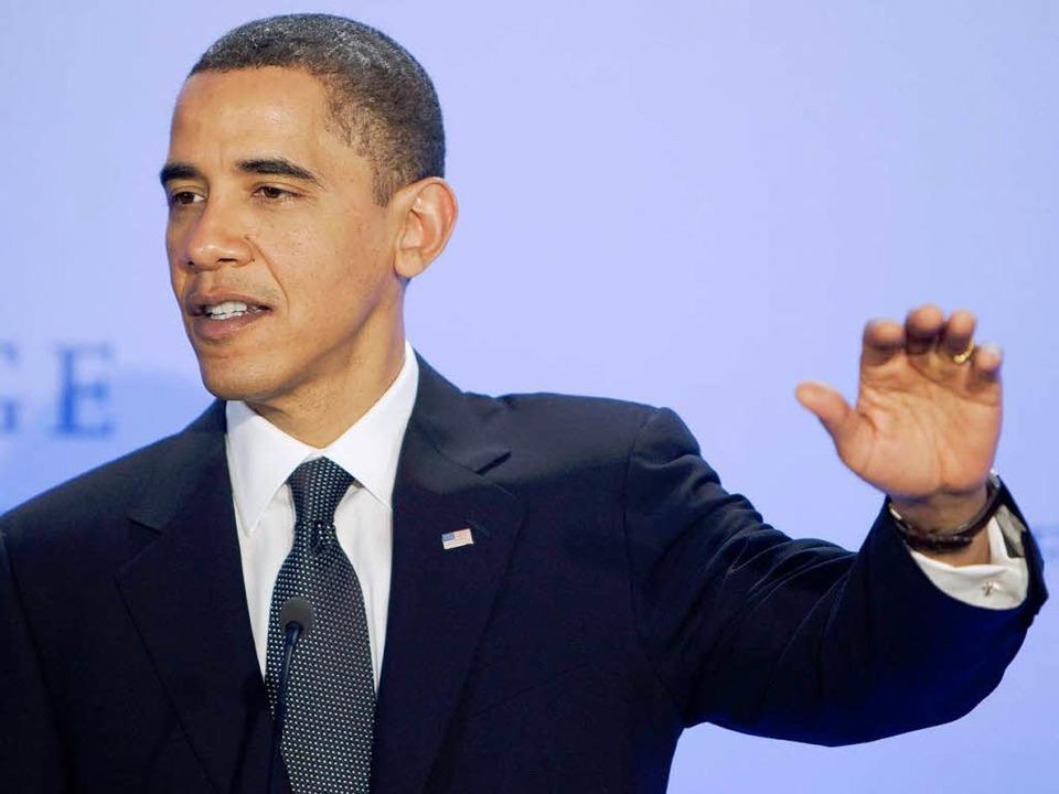 Bekam den Friedensnobelpreis in Oslo verliehen: US-Präsident Barack Obama.    Foto: dpa