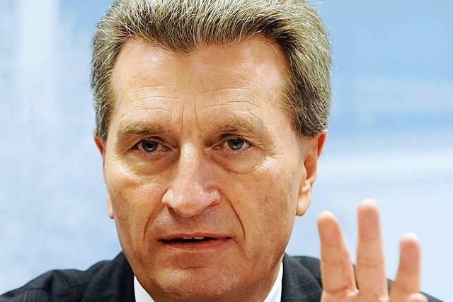 Oettinger: Haushaltssanierung hat Vorrang