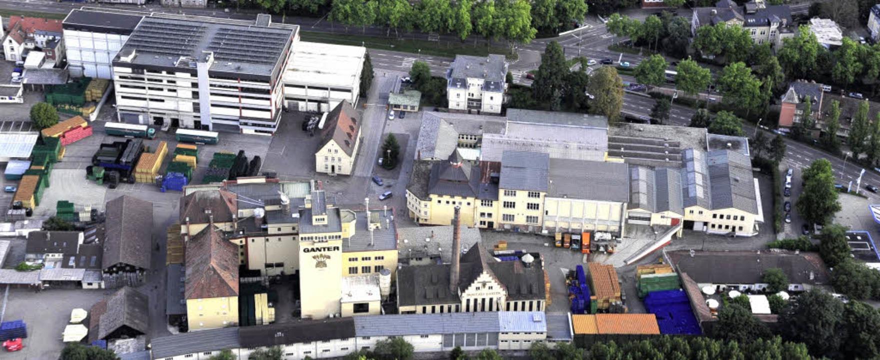 Das Areal der Ganter-Brauerei: Das Fla...ert sich auf ihren historischen Kern.   | Foto: Thomas Kunz
