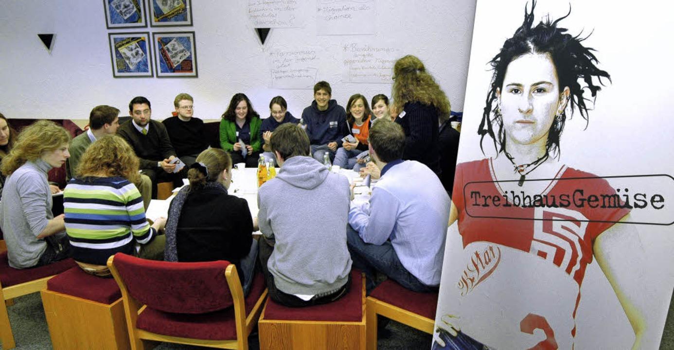 Der Stadtjugendring Freiburg bei einer Veranstaltung im Rahmen des Jugenddialogs  | Foto: Thomas Kunz