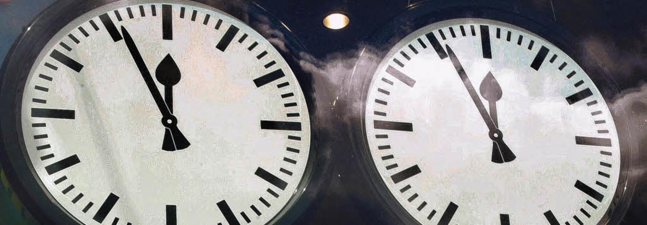 Jetzt wird es aber eng, die Zeit läuft... das nicht unbedingt die Kreativität.     Foto: dpa