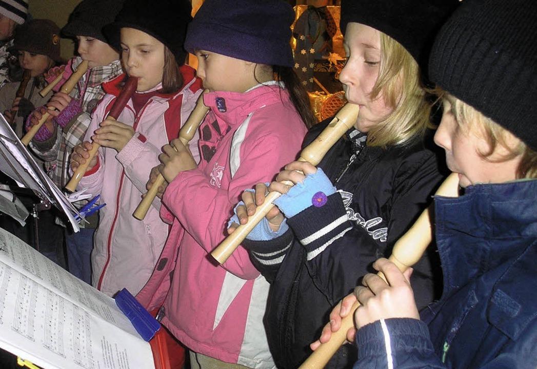 Flötenspiel der Talschule  | Foto: bz