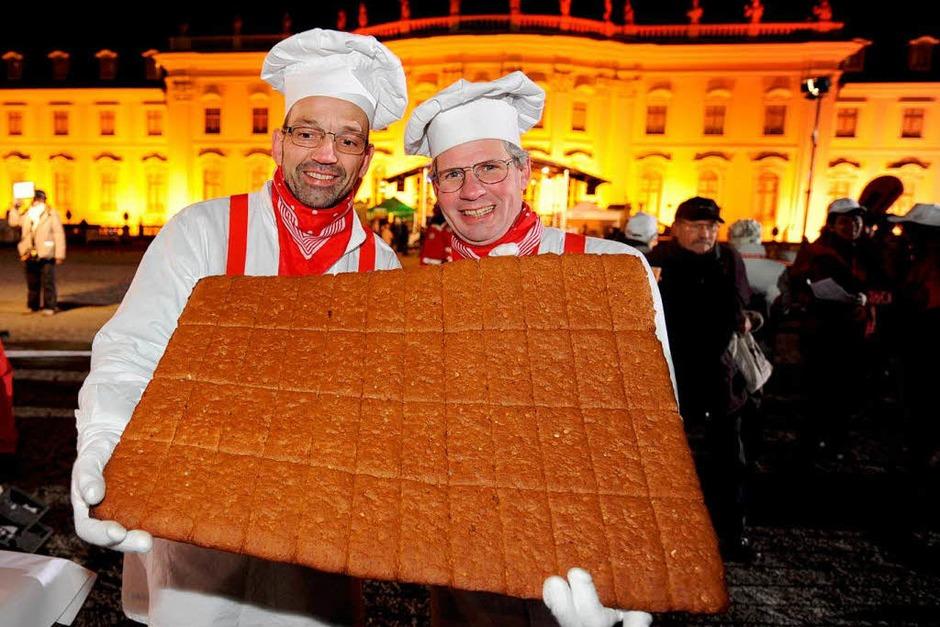 Stefan Koch und Konrad Friedmann aus Oppenau beim Weltrekordversuch. (Foto: dpa)