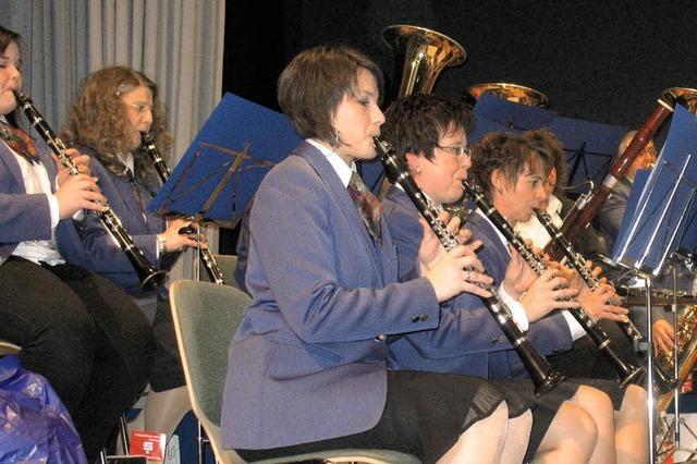 Blasorchester zieht alle Register