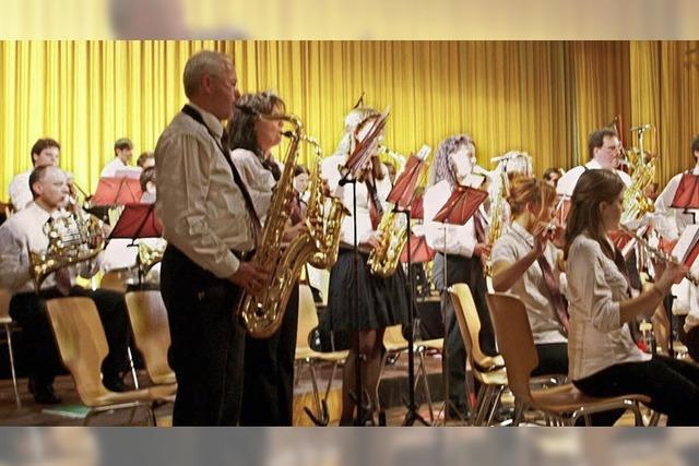 Filmreifer Auftritt des Musikvereins