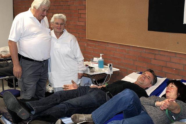 Gutes Ergebnis der Blutspendeaktion