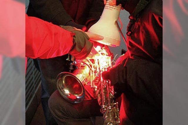 Spielen, bis die Instrumente einfroren