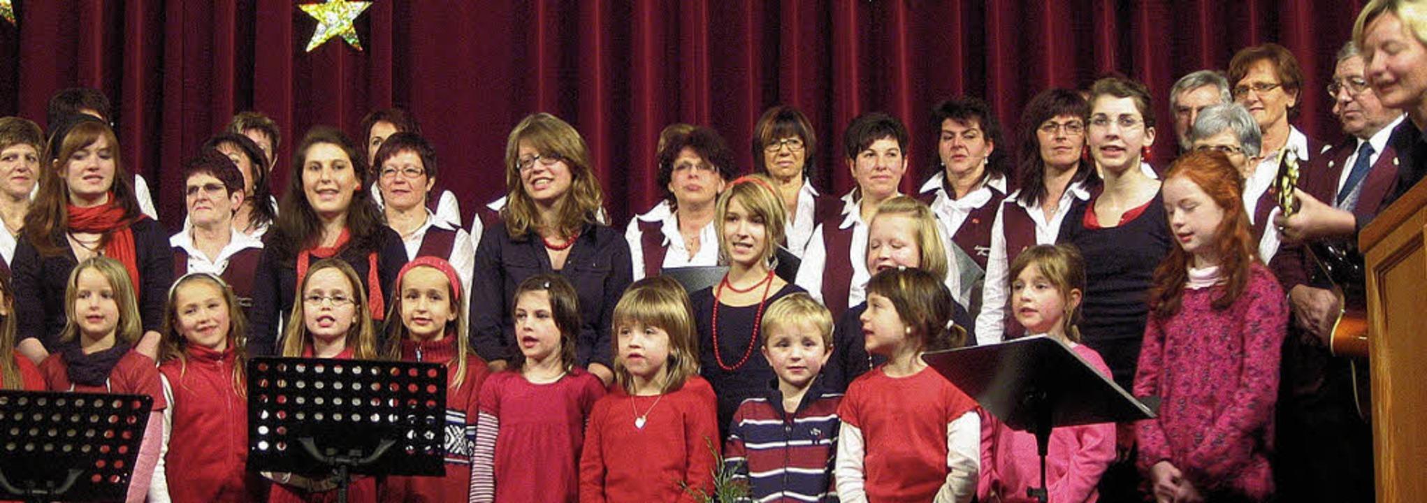 """Der neu gegründete Kinderchor hatte se...eins """"Sängerrunde"""" Prechtal.    Foto: Thomas Steimer"""