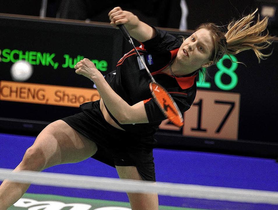 Juliane Schenk  erreichte zuletzt in  Basel das Viertelfinale.   | Foto: Schön