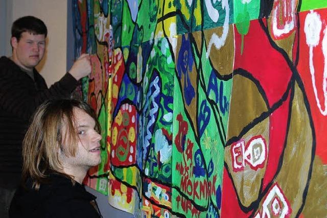 Kunst von Schülern im Museum