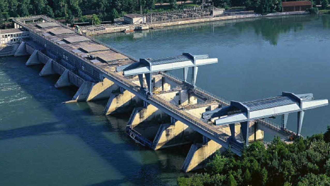 Das Rheinkraftwerk  Säckingen wird ab Herbst 2011 von Grund auf saniert.      Foto: Rheinkraftwerk