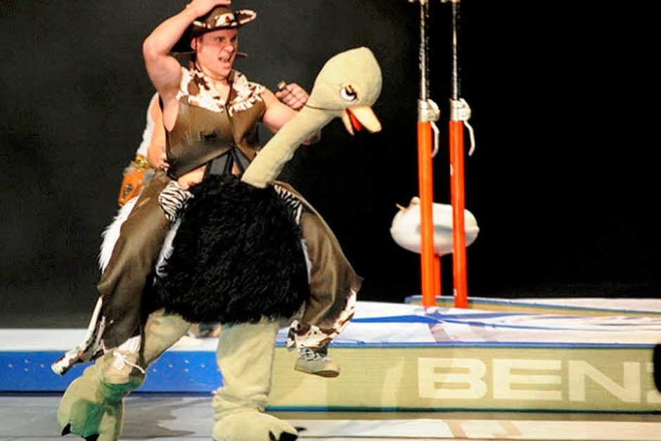 Turnen, Gymnastik  Sport, Musik, Tanz, Theater, Show: Die Turngala des Schwäbischen und des Badischen Turnerbundes in der Freiburger Rothaus-Arena war ausverkauft. (Foto: Achim Keller)