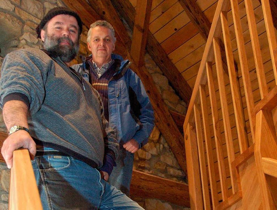 Sie hatten die Idee: Ulrich Armbruster (links) und Karl Dischinger.  | Foto: Sarah Nagel