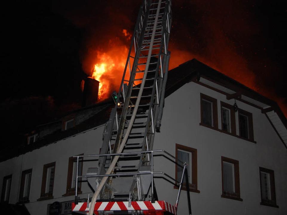 Wohnhausbrand in Breitnau.  | Foto: Martin Ganz