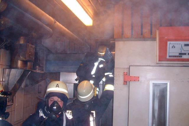 Brand in der Backstube