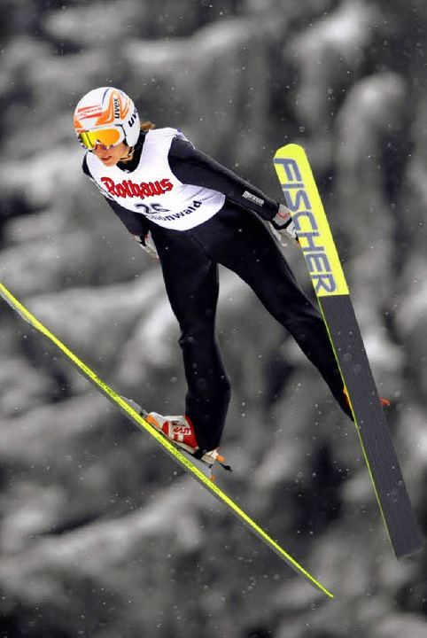 Den 16. Platz  belegte Ramona Straub b...M in Hinterzarten noch nicht erfüllt.   | Foto: Patrick Seeger