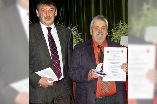 Ehrenmedaille für politisches Engagement