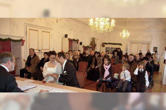 Erste Trauung 2010 im Barocksaal vom Museum