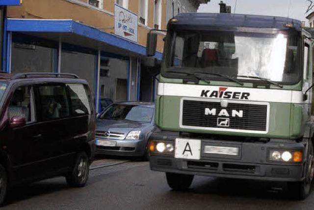 Lkw-Verbot für die Hauptstraße gilt