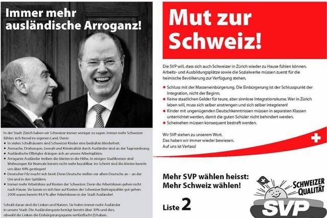 Deutscher Filz und ausländische Ellbögler
