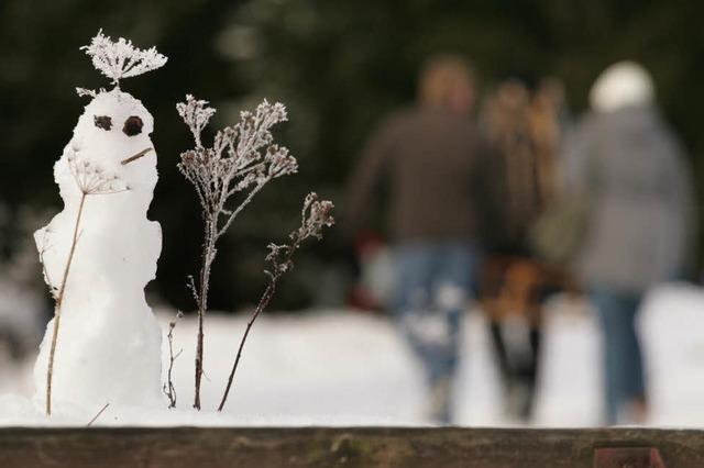 Schönster Schneemann gesucht
