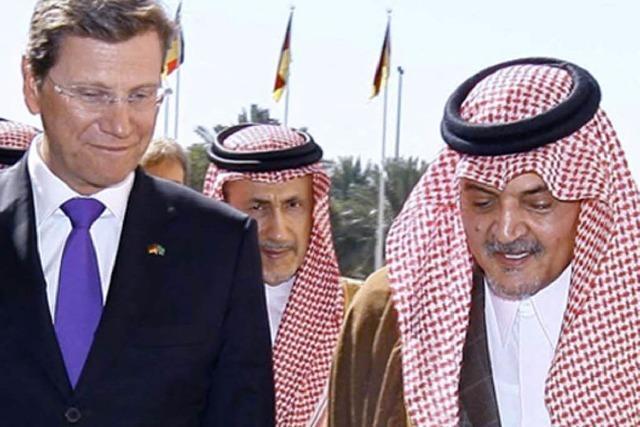 Saudis heißen Westerwelle willkommen