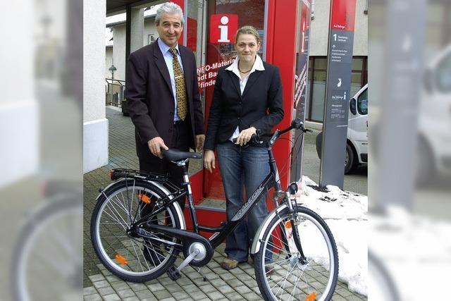 Zum Urlaub ein Fahrrad