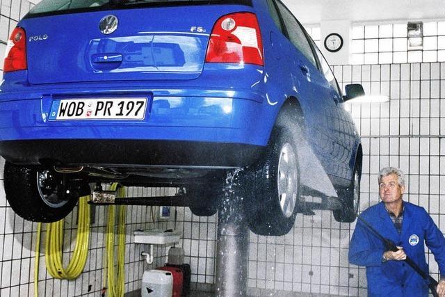 Wagenwäsche gegen Rost