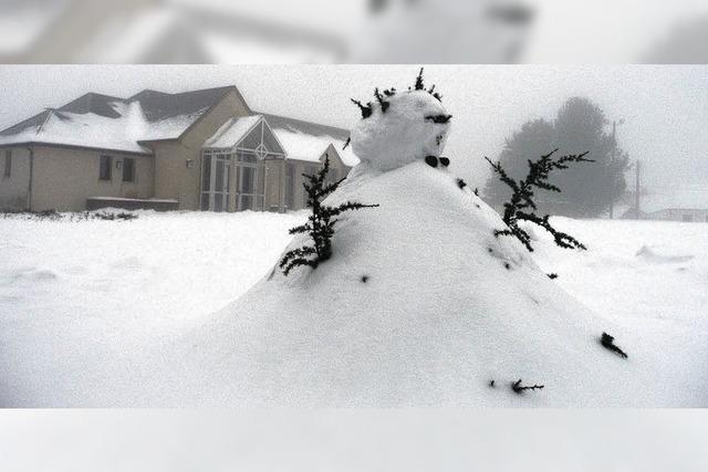 Bellême versinkt im Schneechaos