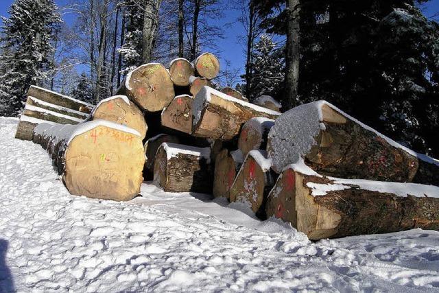 Holz aus Gersbach für Grabtafeln in Japan