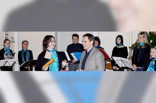 Eine engagierte Chorleiterin