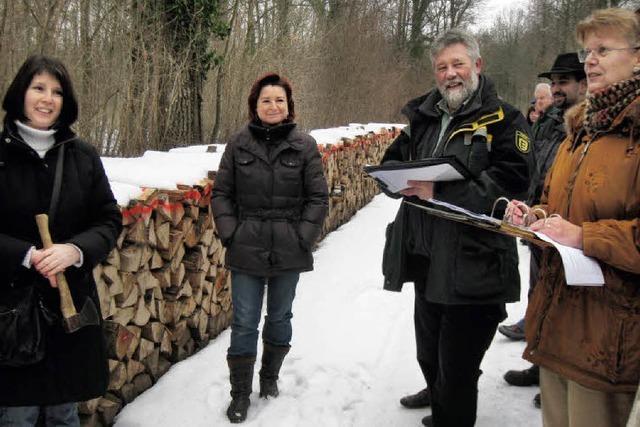 Einige haben jetzt mehr Holz vor der Hütte