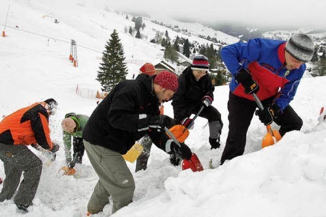 Begraben unter Schnee