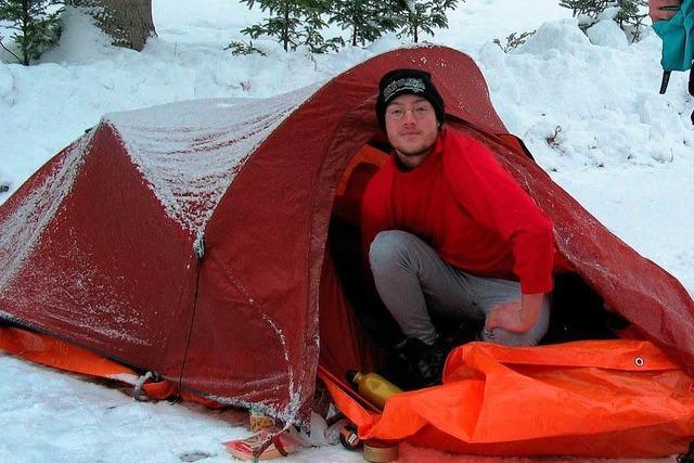 Campingspaß in Schnee und Frost