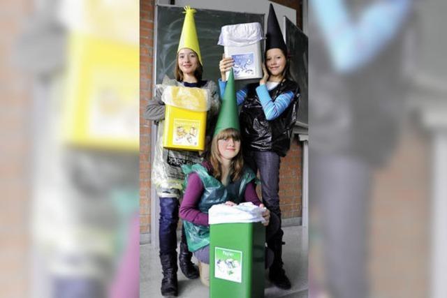 Müllfeen mahnen: Ab in den Eimer!