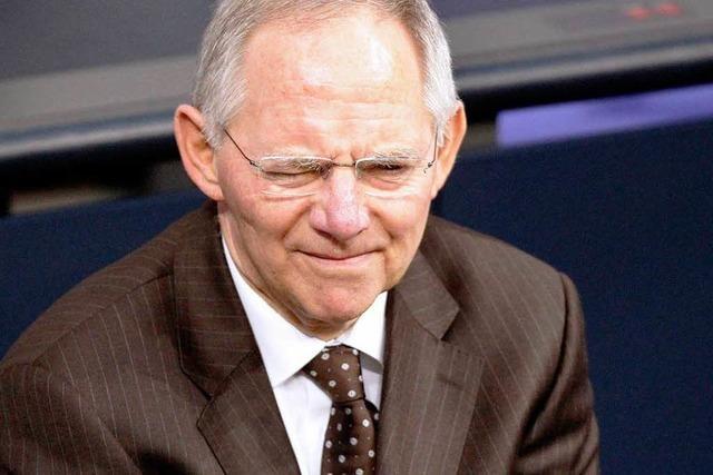 Schäuble will eisern sparen