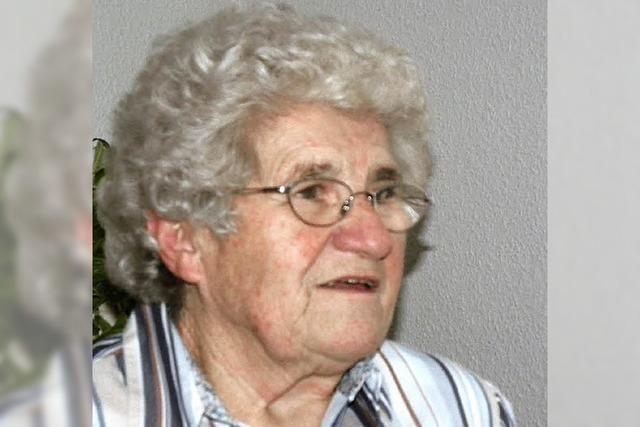 Erna Grafmüller wurde 80 Jahre