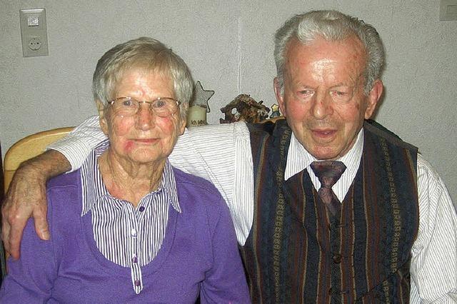 Ein Paar, bei dem es seit 60 Jahren