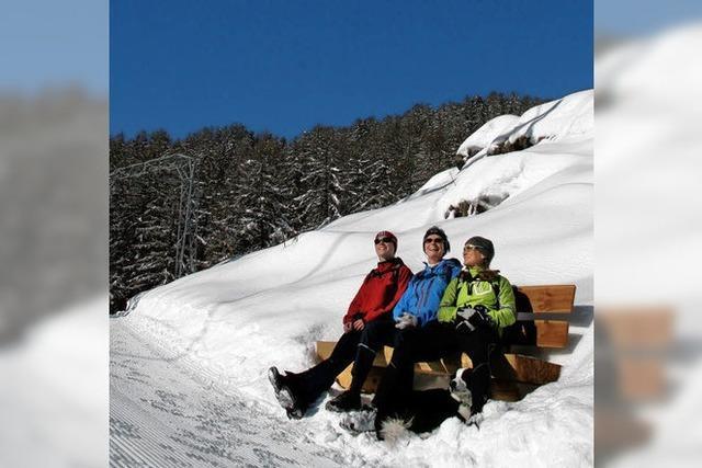 FLUCHTPUNKT: Schneefreie Ruhebank
