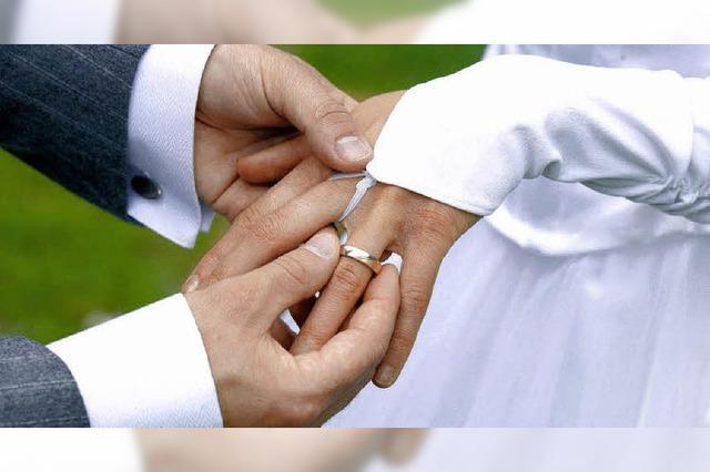 Paare trauen sich immer später
