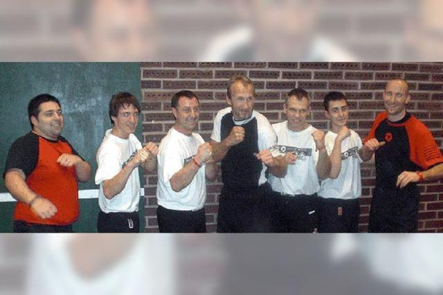 Eskrima-Sportler waren in Schweden