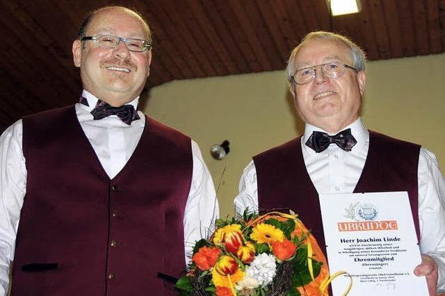 MGV Leiselheim ehrt Joachim Linde