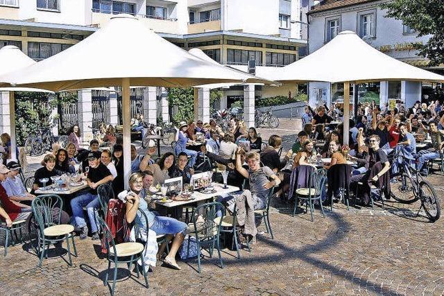 Förderung von Straßencafés